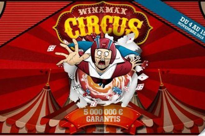 Winamax Circus : 5 millions garantis dès le 4 novembre, le calendrier complet 0001