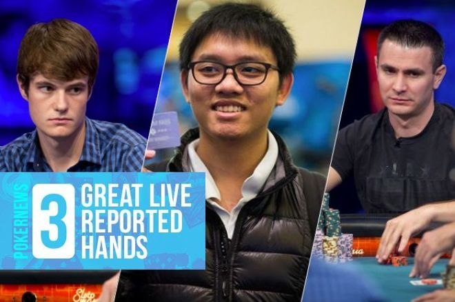 Jake Balsiger, Thai Ha, and Andras Koroknai in some classic live reported hands