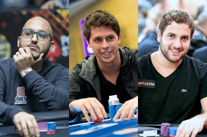 Diego Bittar, Bruno Volkmann e João Simão - Poker Online - partypoker