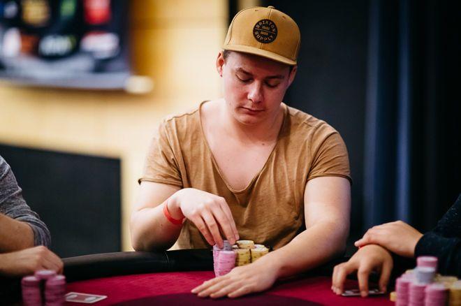 Fabian Gumz leads the final table of the Malta Poker Festival Grand Event