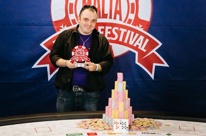 Emanuele Onnis after his Malta Poker Festival Grand Event win