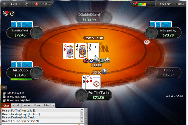 Fusion starts off like hold'em and eventually morphs into pot-limit Omaha.