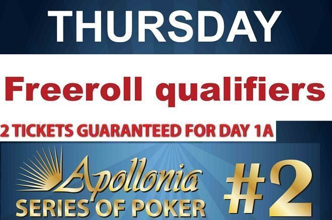 Freeroll με δύο εισιτήρια και σήμερα στο Apollonia για το... 0001