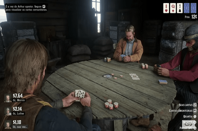 Poker no Red Dead Redemption 2