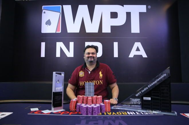 Nikunj Jhunjhunwala wins 2018 WPT India Main Event