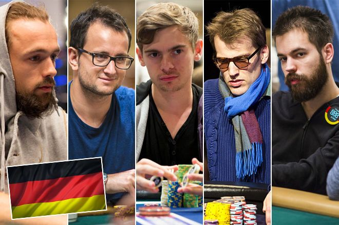 Five of Germany's best poker players
