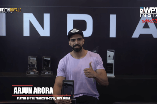 Arjun Arora WPT India 2018 Player Of The Year