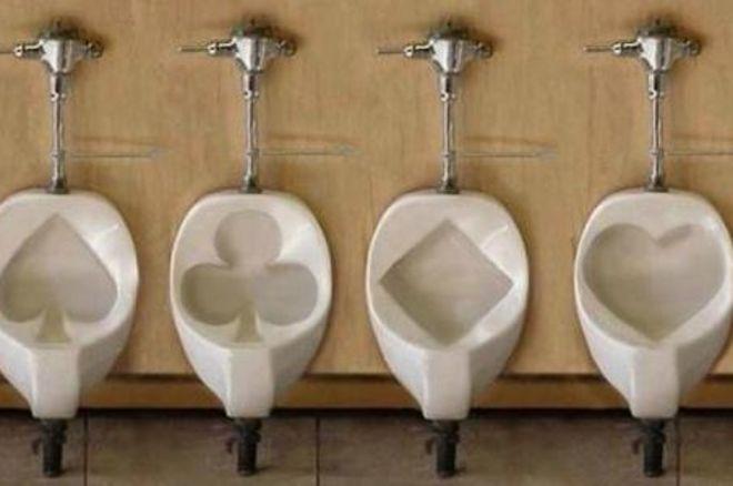 bathroom poker