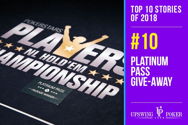 Top 10 Stories of 2018, #10: PokerStars' Platinum Pass Give-Away