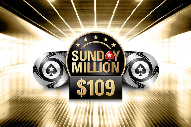 PokerStars has announced that the Sunday Million will feature a buy-in of $109 going forward.