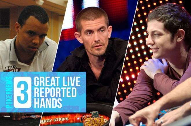 These three hands from the PokerNews archive are worth a second look.