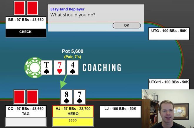 Bet or Check With Pair Plus Flush Draw in a Multi-Way Pot?