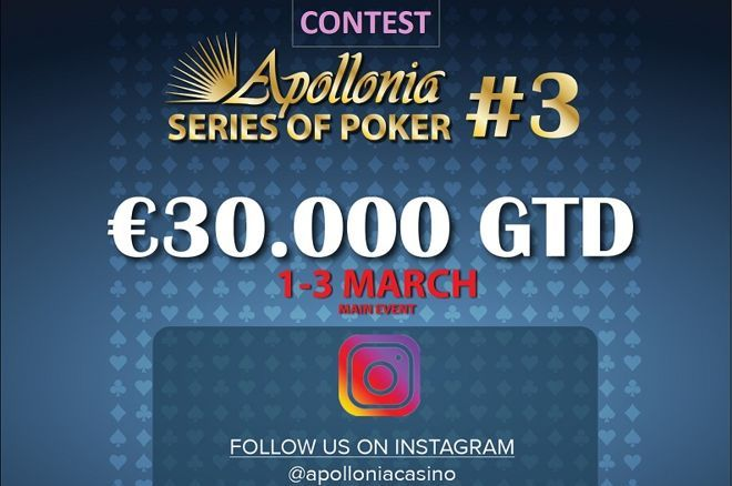 Apollonia: Διαγωνισμός στο Instagram, bad beat jackpot και cash game leaderboard 0001