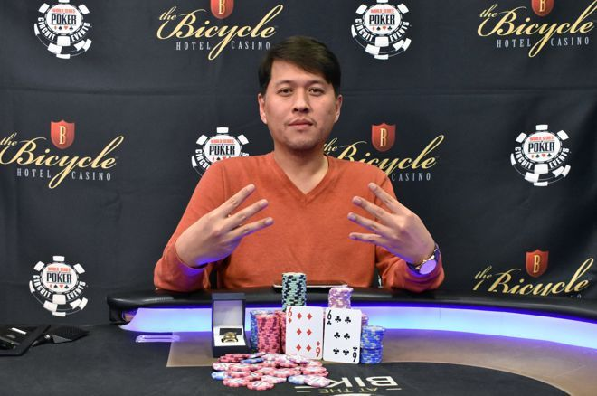 Sean Yu grabbed his seventh WSOPC ring.