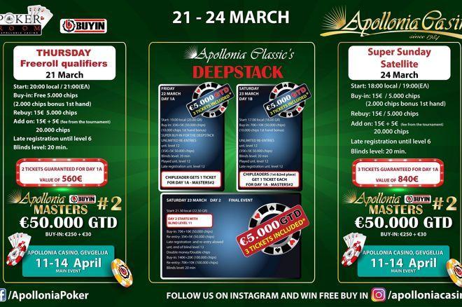 Apollonia: Το πρόγραμμα της εβδομάδας με 8 tickets για το Masters #2 0001