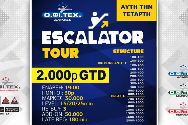 ΟΦΙΤΕΧ: Στο Νικολάου το Deepstack Turbo, σήμερα Escalator με 2.000p gtd 0001