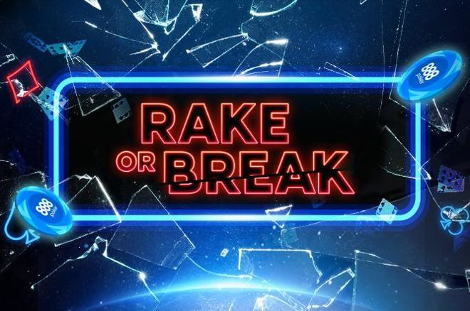 888poker Rake or Break tournaments are being introduced this weekend.