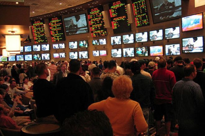 """The MGM Grand sportsbook during """"March Madness"""""""