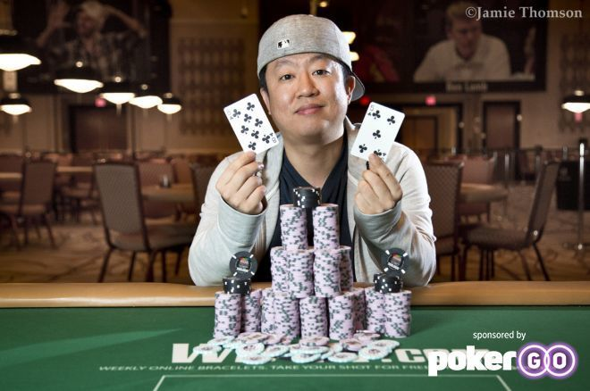 Daniel Park claimed his first gold bracelet in the $1k Super Turbo Bounty.