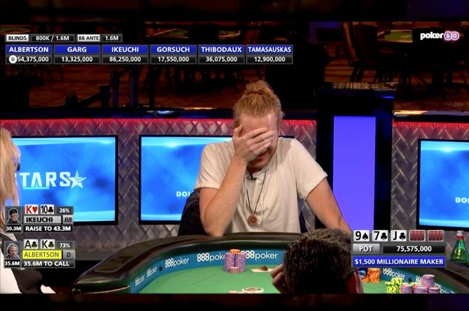 Cory Albertson was put in a very tough spot at the WSOP Millionaire Maker final table.