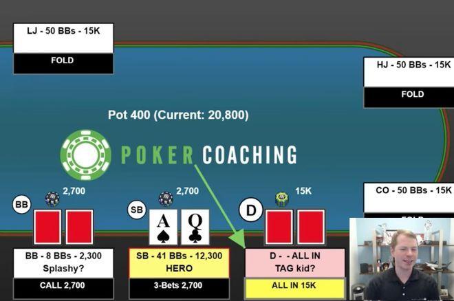 WSOP Tournament Hand Analysis: Folding Ace-Queen Preflop?