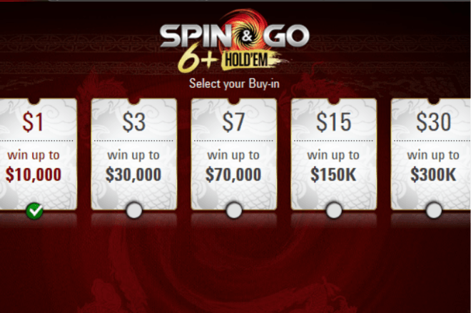 PokerStars 6+ Hold'em spin&go