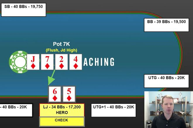 How to Play When a Flopped Flush Turns Into a Marginal Made Hand