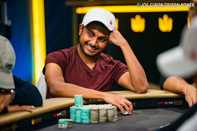 Vivek Rajkumar chipleader Triton Million - A Helping Hand for Charity finaletafel