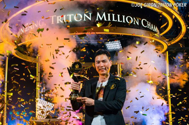 Aaron Zang won the Triton Million after defeating Bryn Kenney heads up.