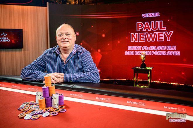Paul Newey won his first major live poker tournament