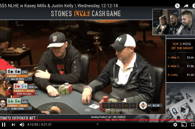 Mike Postle made some unusual plays on the livestream