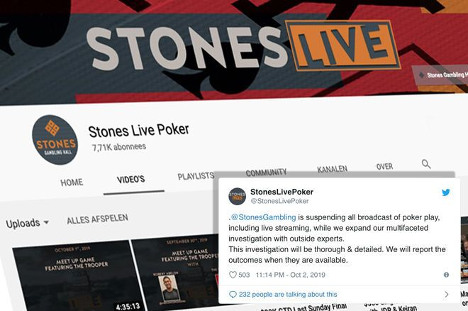 Stones Gambling Hall Suspends All Poker Broadcasts Following Alleged Cheating