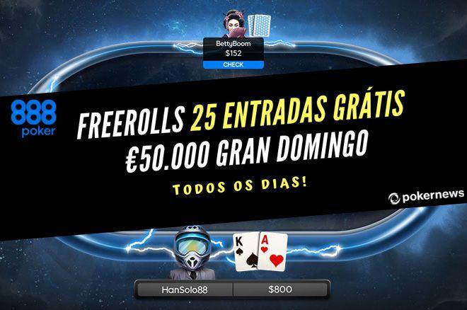Freerolls para o Gran Domingo da 888poker.pt