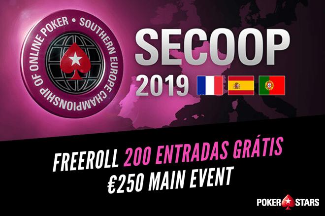 Freeroll com 200 Entradas de €250 para o SECOOP Main Event