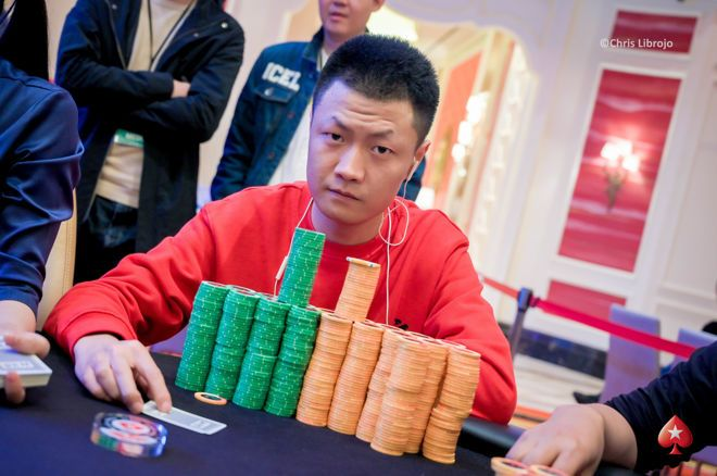Zhihao Zhang built a mountain of chips.