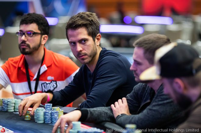 Norbert Szecsi chip leaer in the EPT Prague Main Event