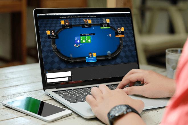 online poker results