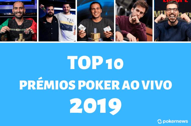 Maiores prémios portugueses nos torneios de poker ao vivo em 2019