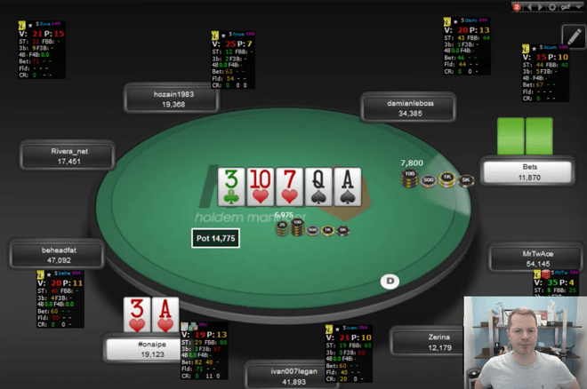 Jonathan Little's Weekly Poker Hand: Fold Two Pair to River Overbet?