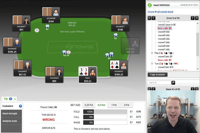 Jonathan Little's Weekly Poker Hand: Tough Spot Against PokerSnowie