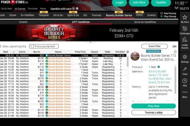 PokerStars Lobby 2020 design