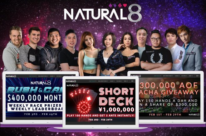 Natural8 has several exciting promotions in store for its players during the month of February