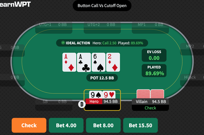 The WPT GTO Trainer lets you play real solved hands against a perfect opponent in a wide variety of postflop scenarios