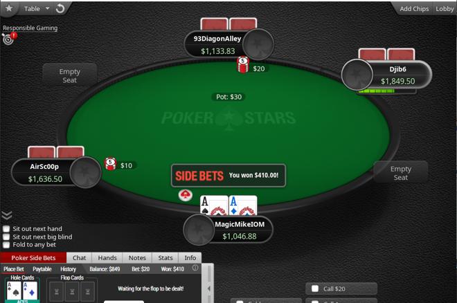 PokerStars Release Side Bets