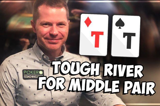 Decisão difícil no river com par médio