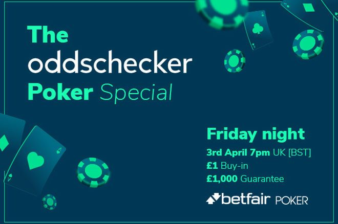 Grab a share of a £1,000 GTD prize pool this Friday on Betfair Poker! Find out the password on PokerNews