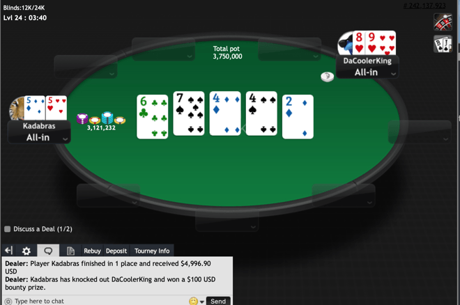 """Kadabras"" Memenangkan Event # 17: $ 15.000 GTD Black Chip Bounty"