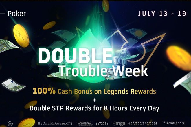 Splash the Pot and Legends Rewards have been doubled on Run It Once Poker; earn up to 134% Rakeback!