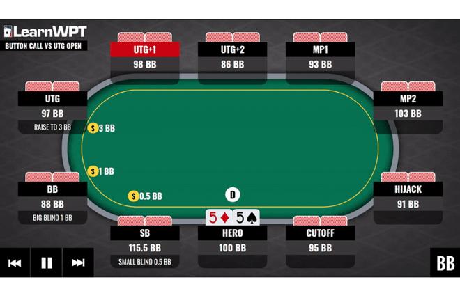 Hands of the Week Trainer WPT GTO: Mempertahankan Tombol Anda dalam Game Uang