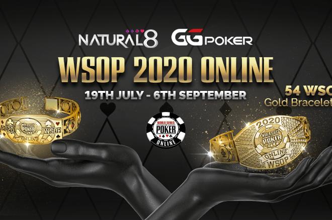 Six WSOP 2020 Online Bracelet Winners Receive Natural8 Sponsorships